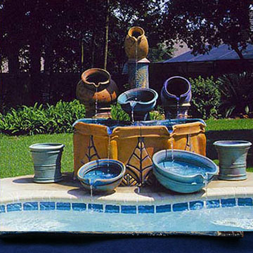 Fountains by architectural ceramic masters Peter King and Xinia Mar¡n