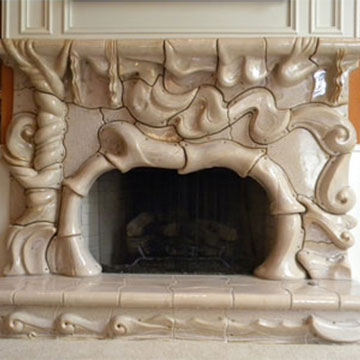 Fireplaces by architectural ceramic masters Peter King and Xinia Mar¡n