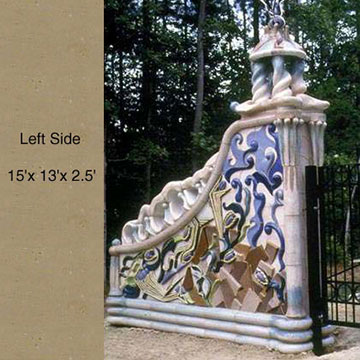 Large outdoor passages of architectural ceramics by ceramic masters Peter King and Xinia Mar¡n